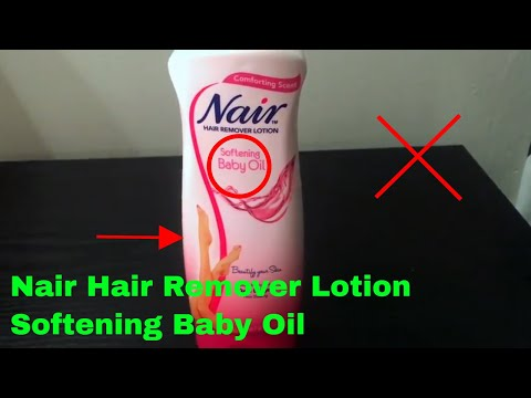 How To Use Nair Hair Remover Lotion Softening Baby Oil Review