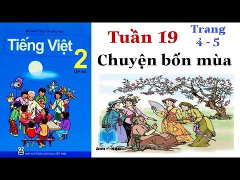 Tiếng Việt Lớp 2 | Tuần 19 | CHUYỆN BỐN MÙA | Tập đọc | Trang 4 - 5