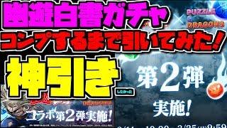 幽遊白書ガチャ コンプ狙いで42連!1.5万円でどれだけ神引きできるのか!【パズドラ】
