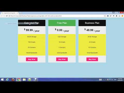 How To Create Responsive Pricing Table Using Html And Css?