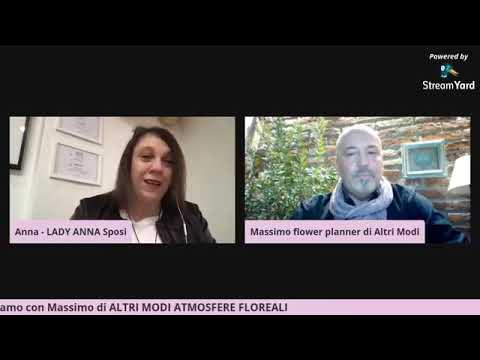 MATRIMONI 2021: ne parliamo con Massimo Flower Planner di Altri Modi Atmosfere Floreali
