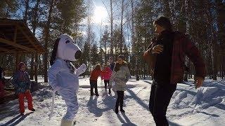 Как весело отметить праздник? Отдыхай с семьей и собакой! Масленица в Щукино.