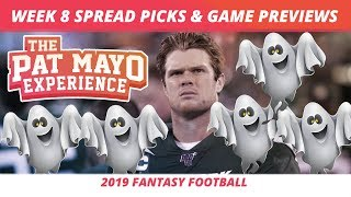 2019 Fantasy Football — Week 8 Spread Picks, Game Previews, NFL Predictions, Best Month Rankings