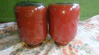 Томатный сок с мякотью Самый быстрый способ/Консервация/tomato juice with pulp