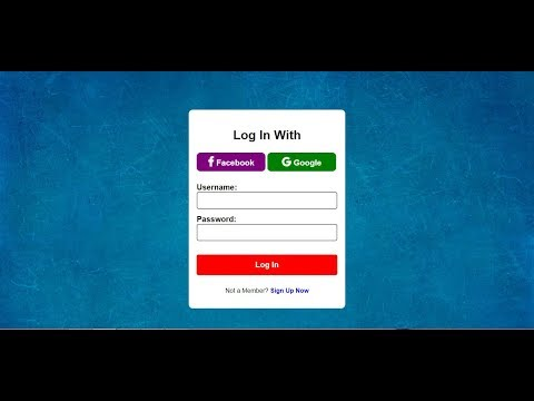 Responsive LogIn Form With Facebook And Google| HTML And CSS