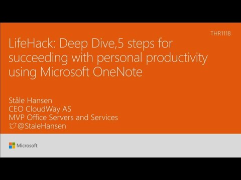 LifeHack: Deep dive with 5 steps for succeeding with personal productivity using Microsoft