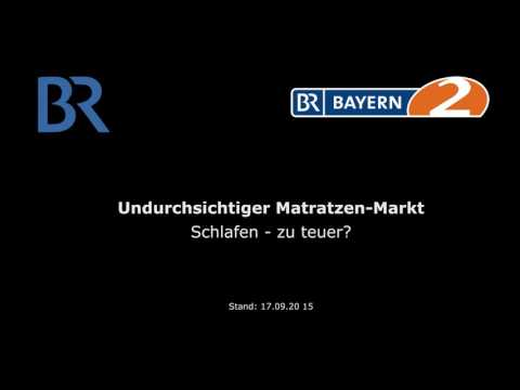 BR Bayern 2 Radio: Undurchsichtiger Matratzen-Markt