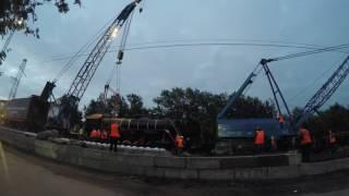 Установка паровоза  город Мурманск 2016(Автор видео - Аркадий Андриянов., 2016-08-11T09:01:59.000Z)