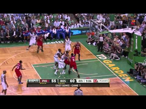 Rajon Rondo triple double vs Philadelphia Sixers full highlights GM7 NBA Playoffs 2012.05.26 HD