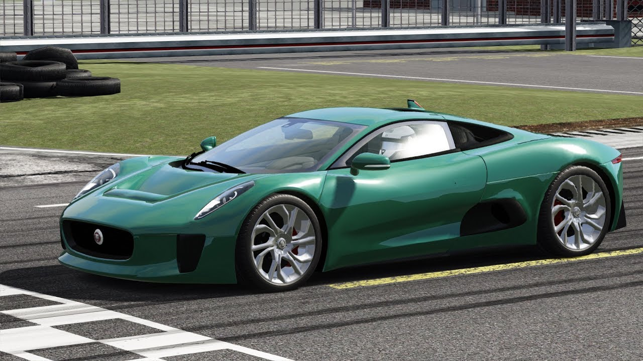 Jaguar C X75 At Top Gear Test Track Etto Corsa