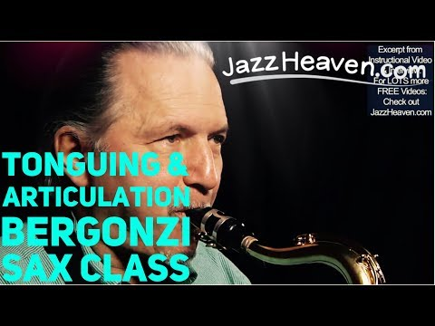 *Saxophone Lesson* MASTER Jerry Bergonzi on Tonguing & Articulation How to Play Saxophone