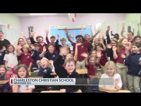 Rob Fowler visits students at Charleston Christian School for Weather 101