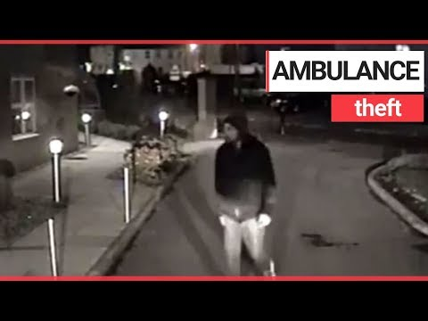 Thief breaks into ambulance as paramedics treat patient at nearby house | SWNS TV