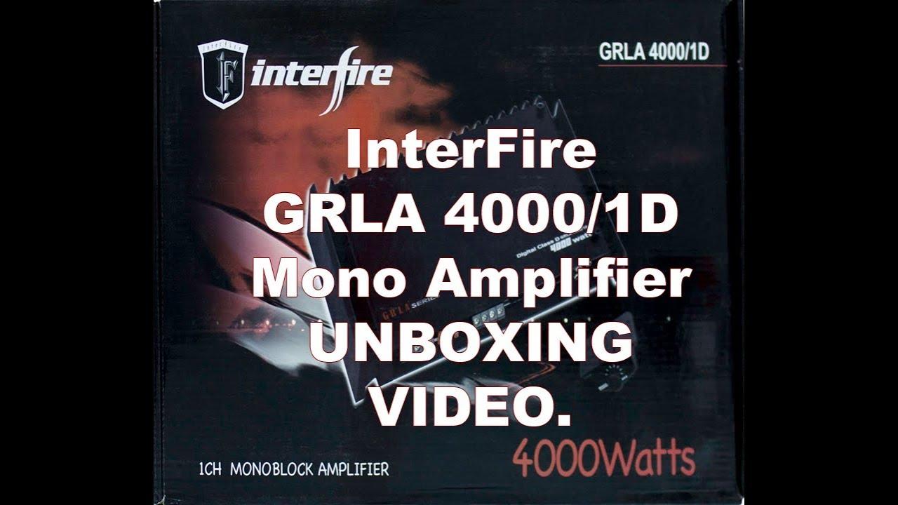 Interfire Grla 4000 1d Mono Amplifier Unboxing Video Review Single Dvc Ohm Wiring Diagram