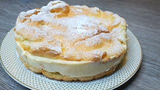 Большой эклер фантастически вкусный заварной пирог Готовить легче чем заварные пирожные эклеры
