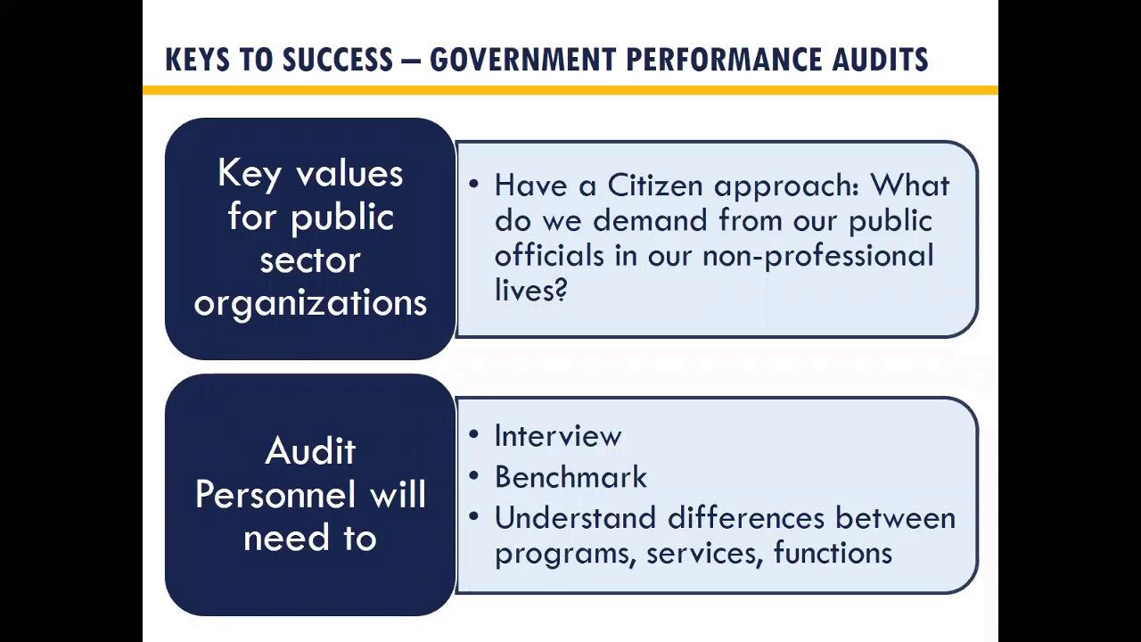 recorded webinar  performance audit
