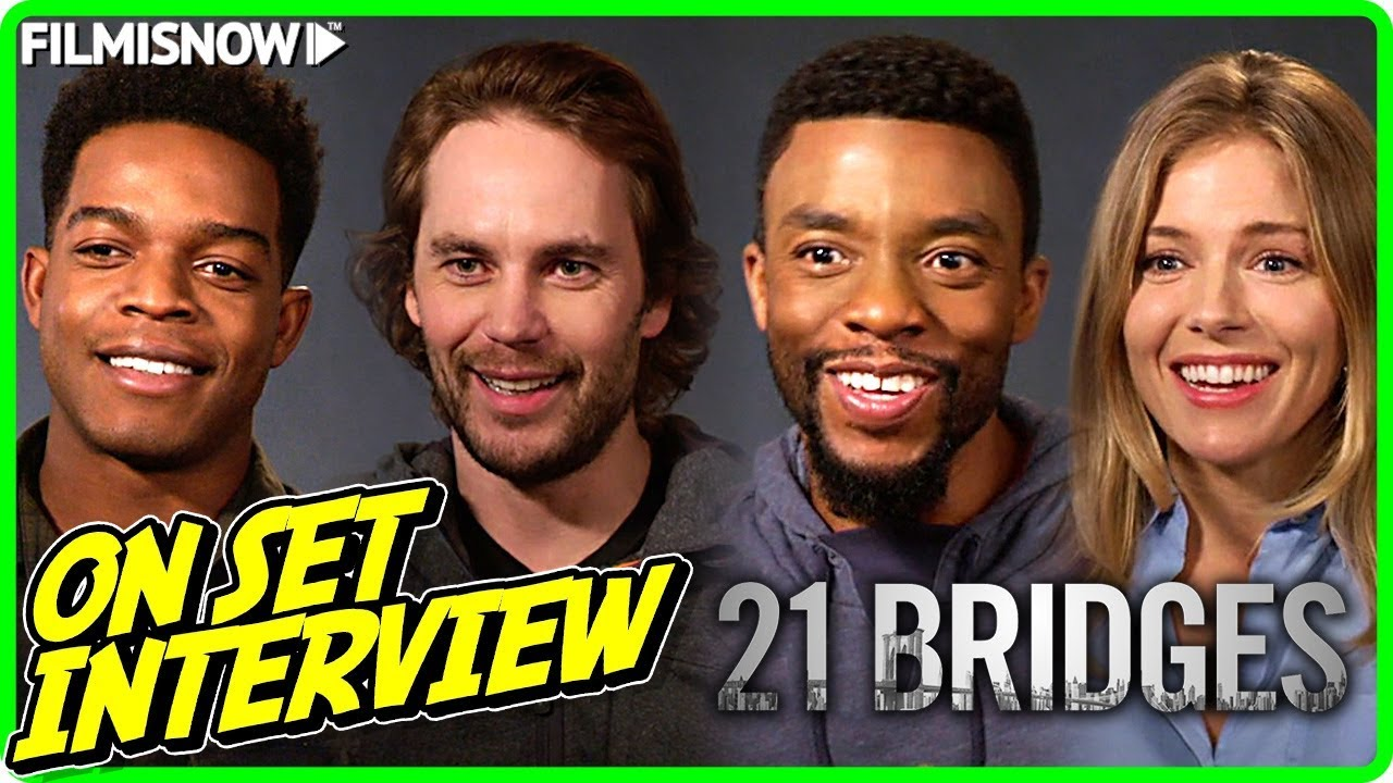 21 Bridges On Set Interview With The Cast Youtube