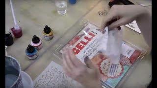 Гелевые пластины Gelli в микс медиа и декоре видео урок Натальи Жуковой
