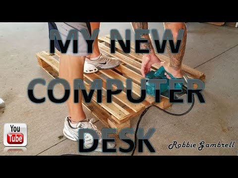Turning that OLD pallet into your NEW computer desk... DIY!!!