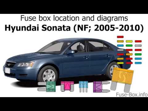 Fuse box location and diagrams: Hyundai Sonata (NF; 2005-2010) - YouTube | 2005 Hyundai Sonata Fuse Diagram |  | YouTube