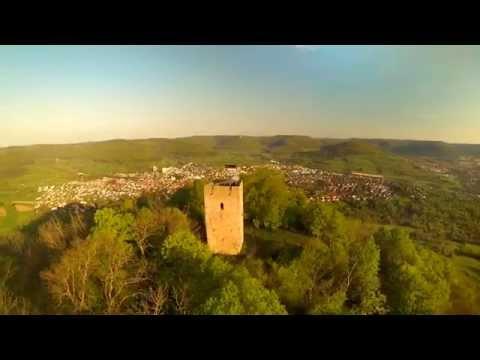 Achalm Reutlingen , Zeitraffer und Luftaufnahmen