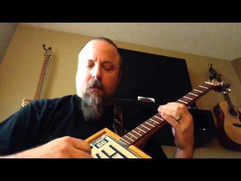 In 2 Van Halen license plate 4 string guitar. CBG
