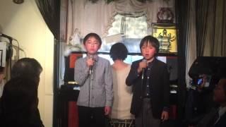 東宝ミュージカル《レミゼラブル2015》 ガブローシュ役の北島大輝と松本...