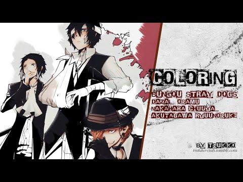 Coloring [BSD Dazai_Chuuya_Akutagawa]