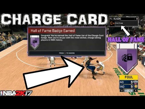 CHARGE CARD BADGE TUTORIAL!!! Lockdown Defender 2k17 - Hall of Fame FAST EASY QUICK