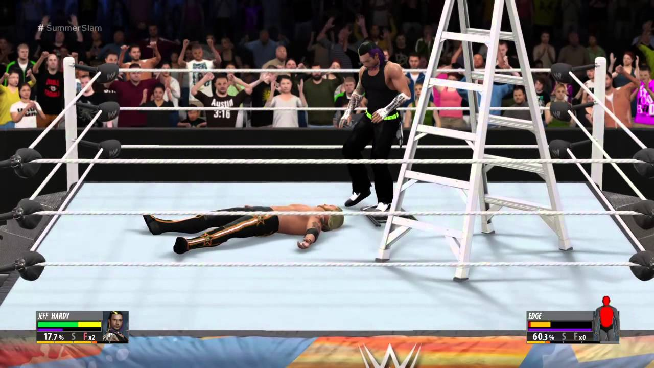 Wwe 2k16 Jeff Hardy Vs Edge Quotladder Matchquot For The