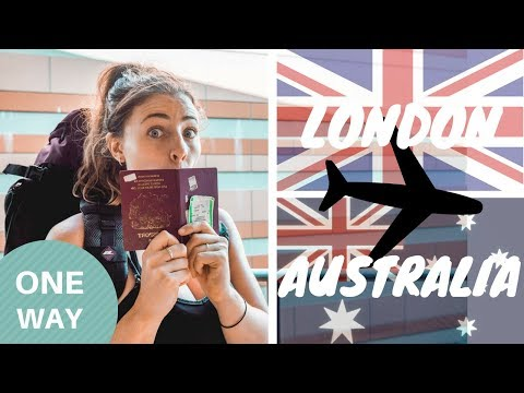 London to Australia ONE WAY - Here we go again [travel vlog]