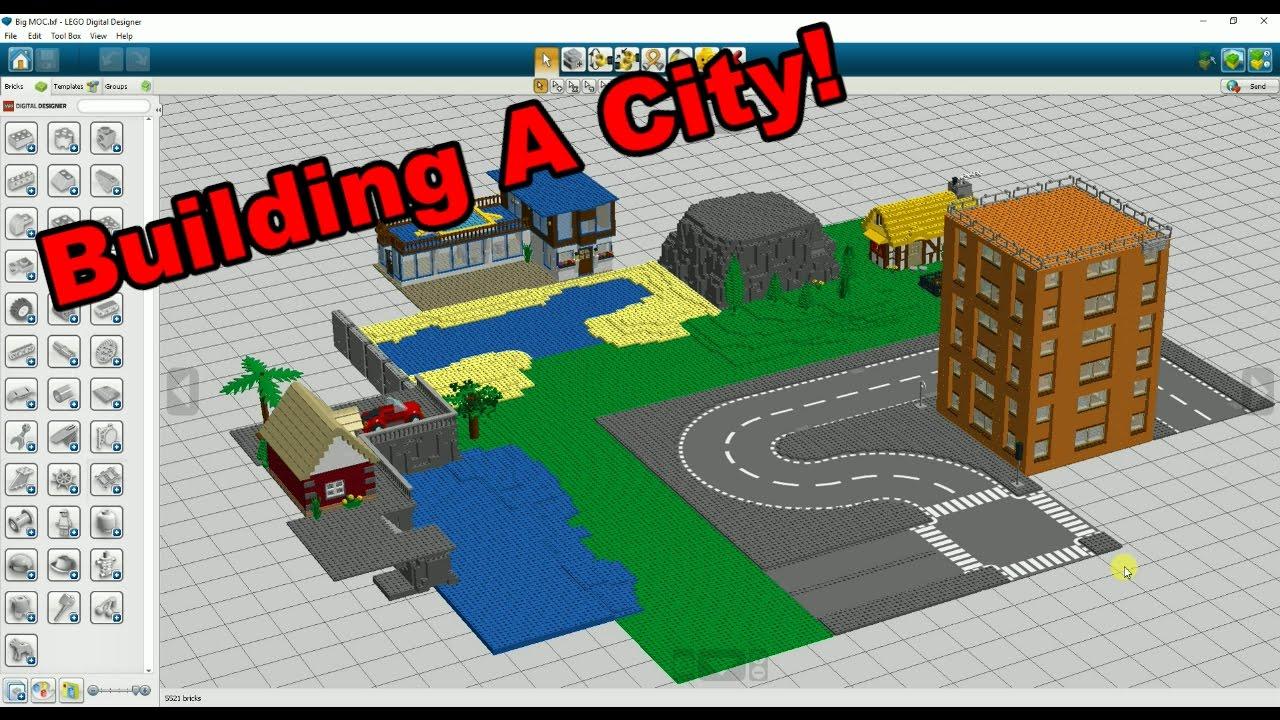 i 39 m building a city lego digital designer youtube. Black Bedroom Furniture Sets. Home Design Ideas