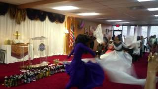 New years Day Worship ATCI youth worship dance to Glory to the Lamb. The Holy Ghost took over! Pt2
