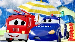 Rain, Rain Go Away - Nursery Rhymes Songs for Children with Trucks of Car City