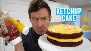 Let's try making a Ketchup & Mustard Cake...