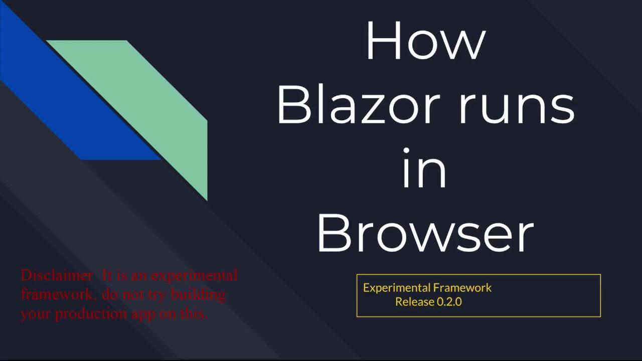How Blazor runs in browser