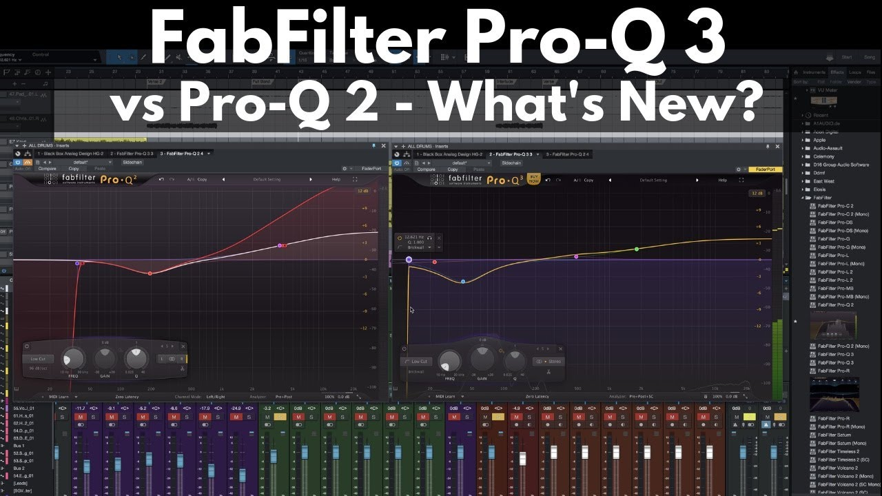 FabFilter Pro-Q 3 vs Pro-Q 2 | New Features - Is It Worth the Upgrade?