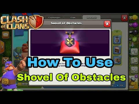 Clash Of Clan|| How To Use Shovel Of Obstacles In Coc __ By __ COC Best Ani