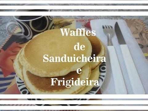 Waffles de Sanduicheira e Frigideira (Receita fácil e rápida)