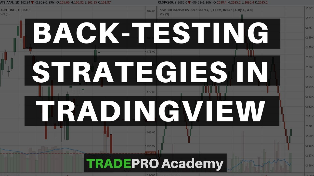 How to back-test your strategy on Trading View