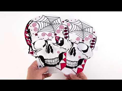 Making Paper Skull Mask