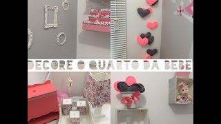 Idéias para decorar o quarto de sua bebê gastando pouco