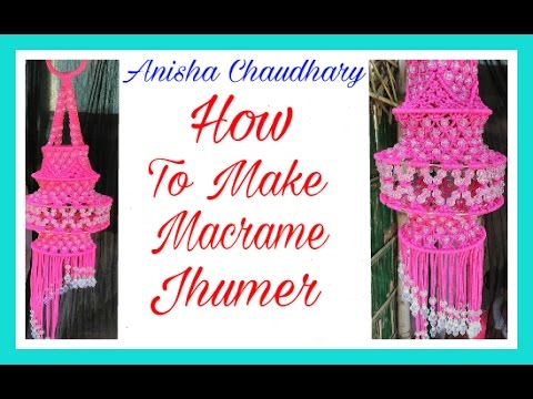 How to Make Macrame Jhumar. Step by Step.Easy Design.