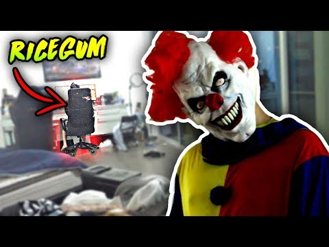 Thumbnail: SCARY KILLER CLOWN PRANK ON RICEGUM (HE FREAKS OUT)