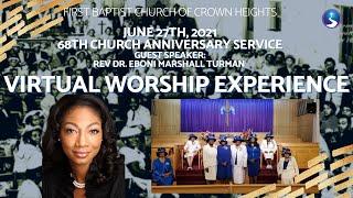 June 27th, 2021: 68th Church Anniversary Service