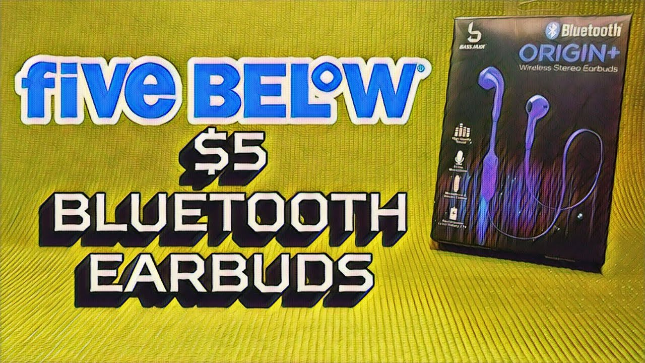 5556194e25a Bluetooth Earbuds from Five Below - $5 Origin+ Headphones Review - Budget  Buys Ep. 6