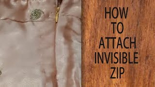 How to attach invisible zipper on dress