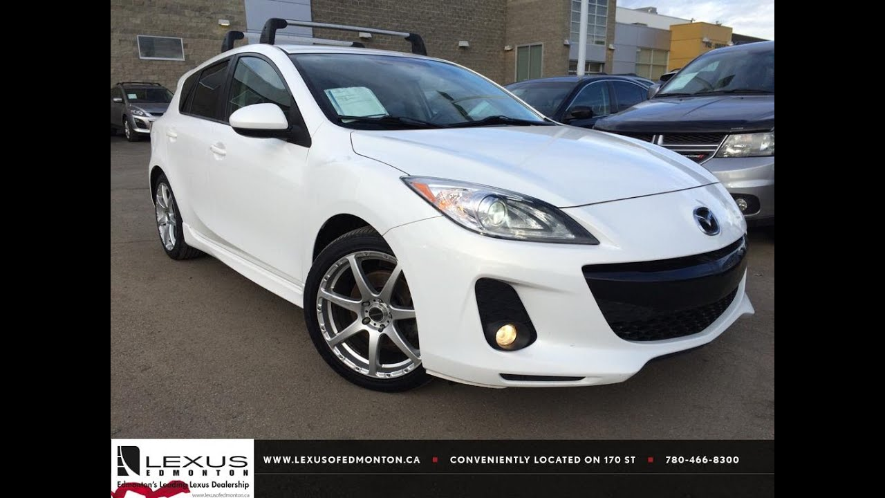 Used White 2012 Mazda Mazda3 HB Sport Man GT Review | Airdrie Alberta