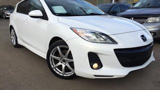 Used White 2012 Mazda Mazda3 HB Sport Man GT Review | Airdrie Alberta
