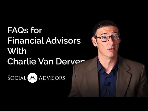 FAQs from Financial Advisors about Social Media Marketing w/Charlie Van Derven